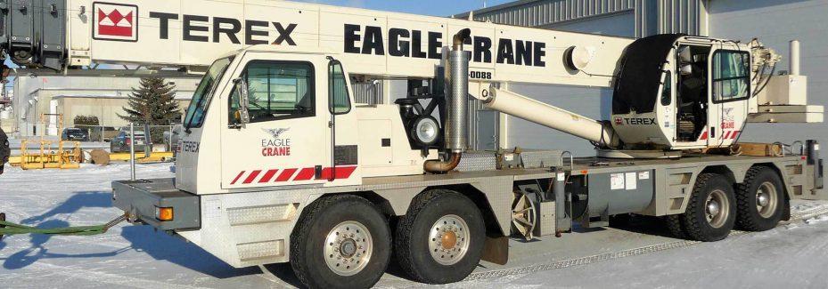 White Terex Crane