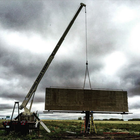 Billboard Structure Raising
