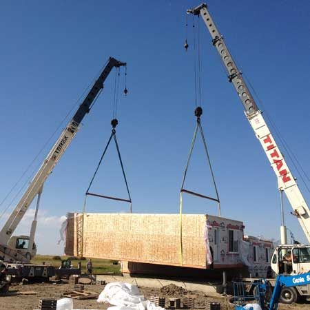 Modular Homes 2 Crane Moving